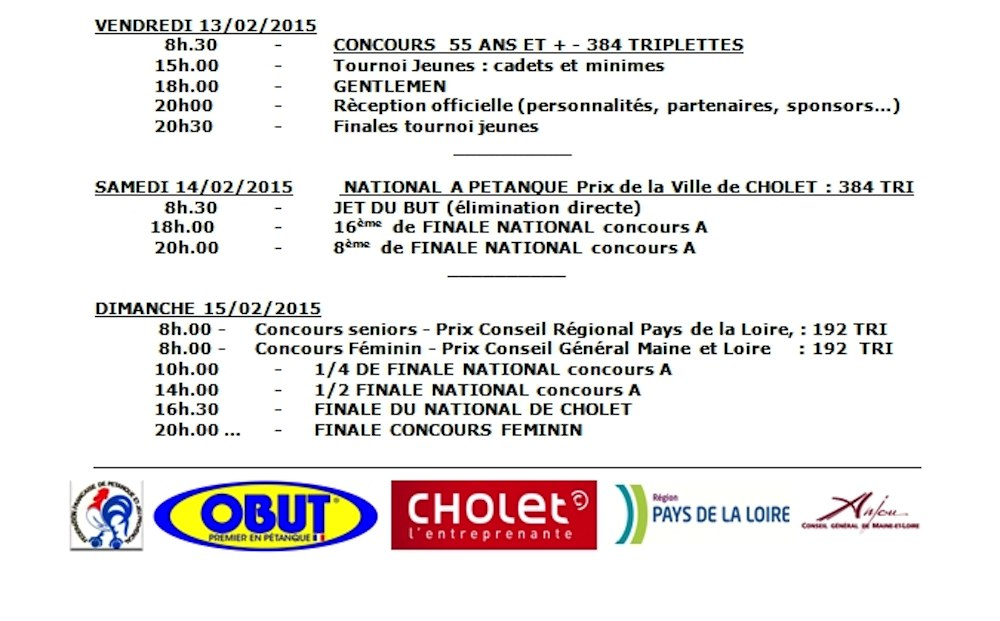 Programme National Cholet